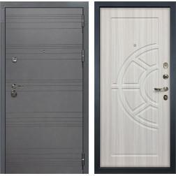 Входная металлическая дверь Лекс Сенатор 3К Софт графит / Сандал белый (панель №44)