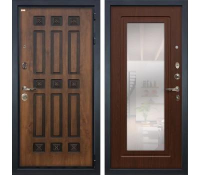 Входная металлическая дверь Лекс Гладиатор 3К Винорит с Зеркалом Береза мореная (панель №30)