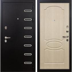 Входная металлическая дверь Лекс Витязь Дуб беленый (панель №14)