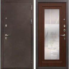 Входная дверь Лекс 5А Цезарь с Зеркалом Береза мореная (панель №30)