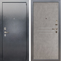 Входная стальная дверь Лекс 3 Барк (Серый букле / Бетон серый) панель №81