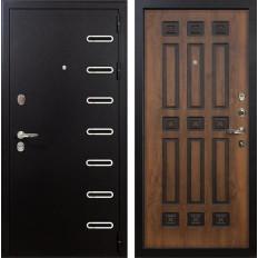 Входная дверь Лекс Витязь Винорит Голден патина черная (панель №33)