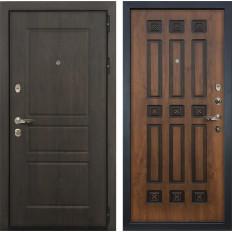 Входная дверь Лекс Сенатор Винорит Голден патина черная (панель №33)