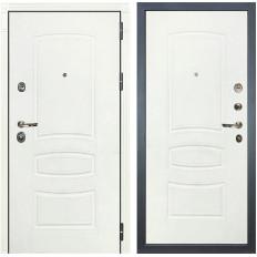 Входная дверь Лекс Сенатор 3К Шагрень белая / Шагрень белая (панель №68)