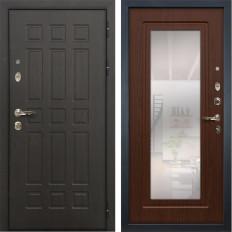 Входная дверь Лекс Сенатор 8 с Зеркалом Береза мореная (панель №30)