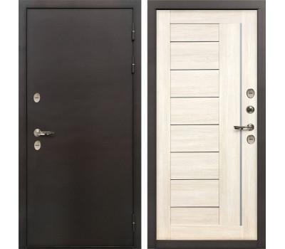 Входная уличная дверь с терморазрывом Лекс Термо Сибирь 3К Верджиния Дуб беленый (панель №38)