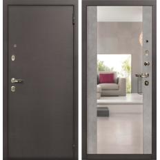 Входная дверь Лекс 1А Стиль с Зеркалом Бетон серый (панель №102)