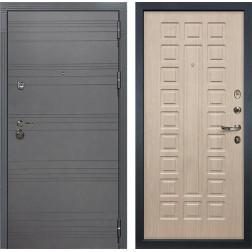 Входная металлическая дверь Лекс Сенатор 3К Софт графит / Дуб беленый (панель №20)