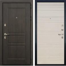 Входная дверь Лекс Сенатор Винорит Дуб фактурный кремовый (панель №63)