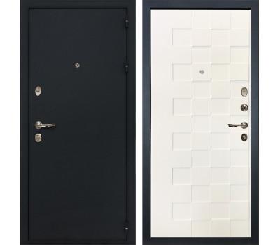 Входная стальная дверь Лекс 2 Рим Белая шагрень Квадро (панель №71)
