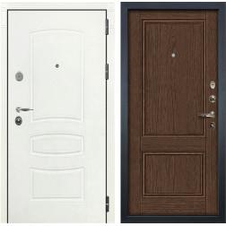 Входная дверь Лекс Легион 3К Шагрень белая / Энигма-1 Орех (панель №57)