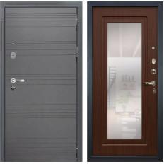 Входная дверь Лекс Легион 3К с Зеркалом Софт графит / Береза мореная (панель №30)
