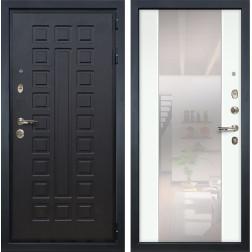 Входная дверь Лекс Гладиатор 3К Стиль с Зеркалом Ясень белый (панель №61)