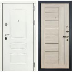 Входная дверь Лекс Легион 3К Шагрень белая / Верджиния Ясень кремовый (панель №40)