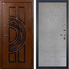 Входная дверь Лекс Спартак Cisa Графит софт Квадро (панель №72)