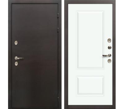 Входная уличная дверь с терморазрывом Лекс Термо Сибирь 3К Вероника-1 Эмаль Белая (панель №55)