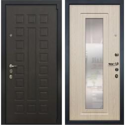Входная дверь Лекс 4А Неаполь Mottura с Зеркалом Дуб беленый (панель №23)