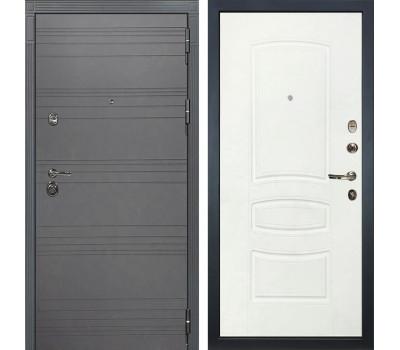 Входная металлическая дверь Лекс Сенатор 3К Софт графит / Белая шагрень (панель №68)