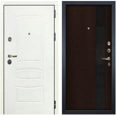 Входная дверь Лекс Сенатор 3К Шагрень белая / Новита Венге (панель №53)