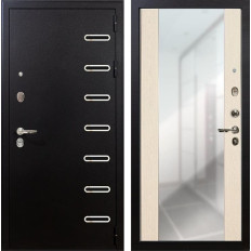 Входная дверь Лекс Витязь Стиль с Зеркалом Дуб беленый (панель №45)