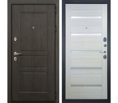 Входная стальная дверь Лекс Сенатор Винорит Клеопатра-2 Дуб беленый (панель №58)