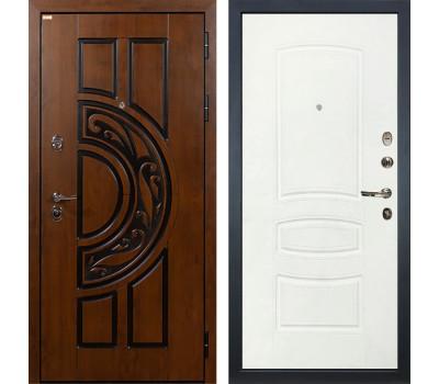Входная стальная дверь Лекс Спартак Cisa Белая шагрень (панель №68)