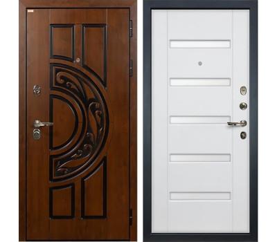 Входная стальная дверь Лекс Спартак Cisa Ясень белый (панель №34)