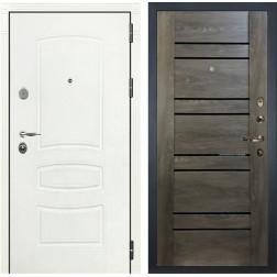 Входная стальная дверь Лекс Легион 3К Шагрень белая / Терра Графит шале (панель №64)