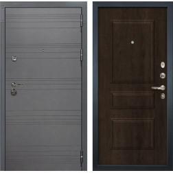 Входная дверь Лекс Сенатор 3К Софт графит / Алмон 28 (панель №60)