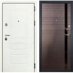 Входная стальная дверь Лекс Легион 3К Шагрень белая / Ясень шоколад (панель №31)
