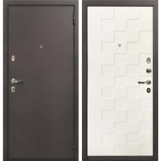Входная дверь Лекс 1А Белая шагрень Квадро (панель №71)
