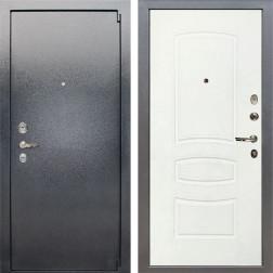 Входная стальная дверь Лекс 3 Барк (Серый букле / Белая шагрень) панель №68