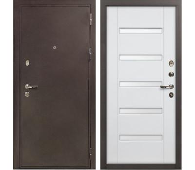 Входная стальная дверь Лекс 5А Цезарь Ясень белый (панель №34)