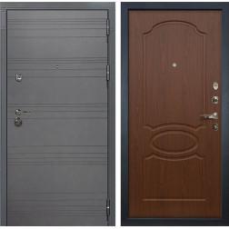 Входная металлическая дверь Лекс Сенатор 3К Софт графит / Береза мореная (панель №12)