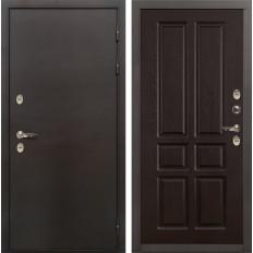 Входная дверь с терморазрывом Лекс Термо Сибирь 3К Ясень шоколад (панель №86)