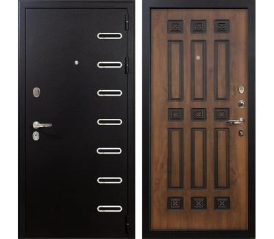 Входная металлическая дверь Лекс Витязь Винорит Голден патина черная (панель №33)