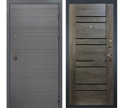 Входная металлическая дверь Лекс Сенатор 3К Софт графит / Терра Графит шале (панель №64)