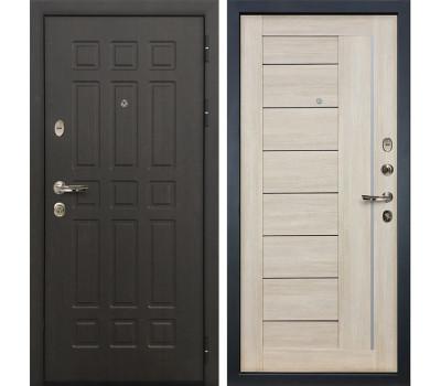 Входная металлическая дверь Лекс Сенатор 8 Верджиния Ясень кремовый (панель №40)