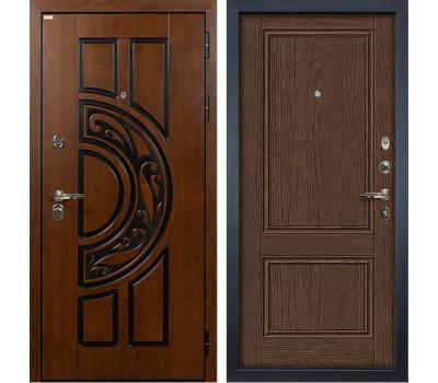 Входная стальная дверь Лекс Спартак Cisa Энигма-1 Орех (панель №57)