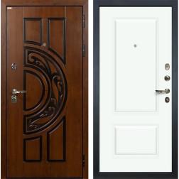 Входная дверь Лекс Спартак Cisa Вероника-1 Эмаль Белая (панель №55)