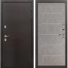 Входная дверь с терморазрывом Лекс Термо Сибирь 3К Бетон серый (панель №80)