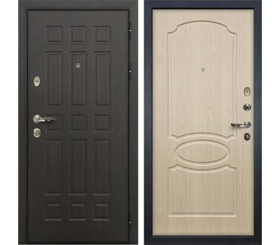 Входная металлическая дверь Лекс Сенатор 8 Дуб беленый (панель №14)