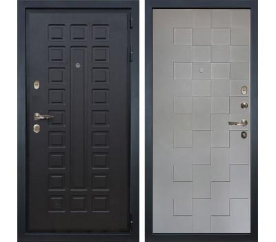 Входная  металлическая дверь Лекс Гладиатор 3К Графит софт Квадро (панель №72)