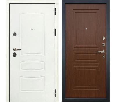 Входная металлическая дверь Лекс Сенатор 3К Шагрень белая / Береза мореная (панель №19)