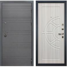 Входная дверь Лекс Сенатор 3К Софт графит / Сандал белый (панель №44)