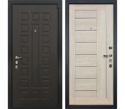 Входная стальная дверь Лекс 4А Неаполь Mottura Верджиния Ясень кремовый (панель №40)