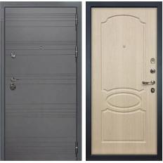 Входная дверь Лекс Сенатор 3К Софт графит / Дуб беленый (панель №14)