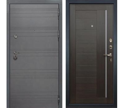 Входная металлическая дверь Лекс Сенатор 3К Софт графит / Верджиния Венге (панель №39)