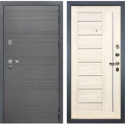 Входная стальная дверь Лекс Легион 3К Софт графит / Верджиния Дуб беленый (панель №38)
