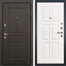 Входная дверь Лекс Сенатор Винорит Софт белый снег (панель №85)